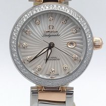 Omega Two Tone Rose Gold Ladymatic 425.25.34.20.55.004 Diamond...