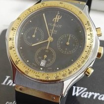 Hublot Classic Chrono steel and 18 kt gold  black dial