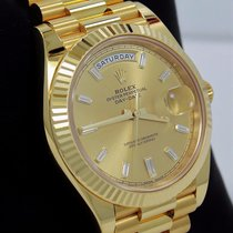 Rolex President Day-date 228238 18k Y Gold Baguettes Dial 40mm...