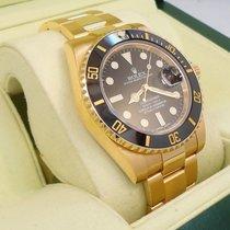 Rolex Submariner Oyster Perpetual 18k Y Gold Ceramic Bezel 116618
