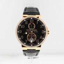 Ulysse Nardin Marine Chronometer 41mm Rose Gold Diamond Bezel...