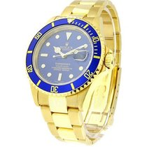 Rolex Used 16618_used_blue Submariner - Yellow Gold 16618 -...