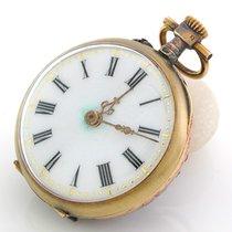 Unbekannter Hersteller Antike kleine Taschenuhr mit Rubin- u....