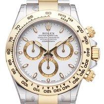 Rolex Daytona Cosmograph 40 Edelstahl / Gelbgold 116503 weiß