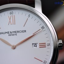 Baume & Mercier Men's Classima 42mm Steel on Leather...