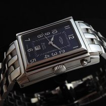 Rotary Automatic Reverso Black Silver Elite Men's Watch