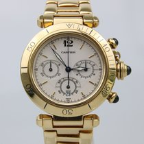 Cartier Pasha 18k Yellow Gold Gents Chrono Quartz