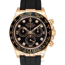 ロレックス (Rolex) Daytona Black 18k Yellow Gold 40mm with Diamond...