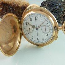 Taschenuhr Savonette Chronograph Viertel-repetition 3 Deckel...
