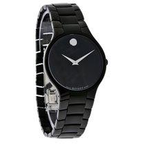 Movado Serio Series Mens Blk Dial Stainless Steel Quartz Watch...