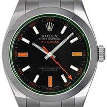 Rolex Green Milgauss Green Crystal Anniversary Model 116400V...