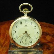 Omega Open Face Taschenuhr Aus 800 Silber Von Ca. 1912
