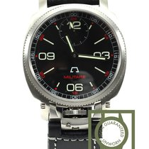 Anonimo Militare 2004 hand wind Steel black dial NEW