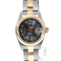 Rolex Rolex Ladies 18K/SS Datejust - Slate Roman Numeral Dial...