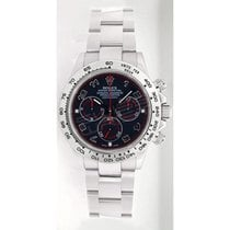 Rolex Daytona 116509 White Gold Heavy Band Model, Black...