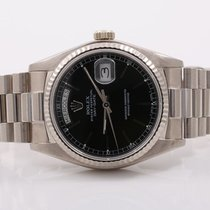 Ρολεξ (Rolex) Mens 18K White Gold Day-Date President - Black...