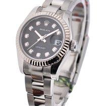 Rolex Unworn 179174 Ladies Datejust with Oyster Bracelet - WG...