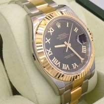 Rolex Datejust II 116333 Two Tone 18k Yellow Gold /ss Black...