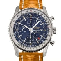Breitling Navitimer World 46 Chronograph Blue Dial Light Brown...