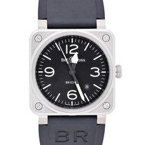 Bell & Ross BR 03-92 Steel BR0392-BLC-ST new