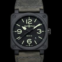 Bell & Ross BR 03-92 Ceramic new Automatic Watch with original box and original papers BR0392-BL3-CE/SCA