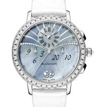 Blancpain Women White gold 38.60mm Mother of pearl Arabic numerals
