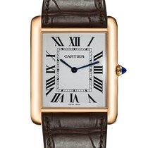 Cartier Tank Louis Cartier neu Handaufzug Uhr mit Original-Box und Original-Papieren W1560017
