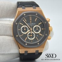 Audemars Piguet Royal Oak Chronograph Růžové zlato 41mm Bez čísel