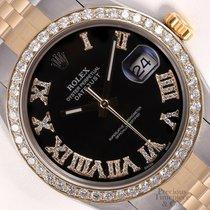 Rolex Datejust Stahl 36mm Schwarz