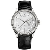 Rolex Cellini Date White gold 39mm Silver No numerals