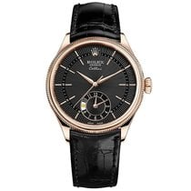 Rolex Cellini Dual Time Rose gold 39mm Black No numerals United States of America, New York, New York