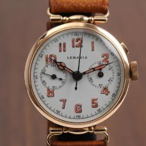 Lemania Red gold Manual winding White Arabic numerals 32mm pre-owned