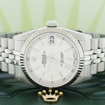 Rolex White gold Automatic Silver 31mm pre-owned Datejust