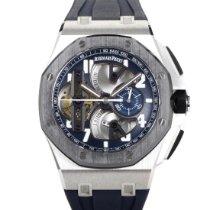 Audemars Piguet Royal Oak Offshore Tourbillon Chronograph Platine 44mm Bleu