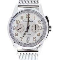 Breitling Transocean Chronograph 1915 AB141112/G799 New Steel 43mm Manual winding