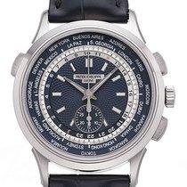 Patek Philippe World Time Chronograph Oro blanco 39,5mm Azul Sin cifras