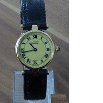 Cartier Silber Quarz Gelb Römisch 24mm gebraucht