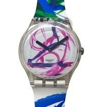 Swatch Plastic 41mm Quartz SOUZ299S new