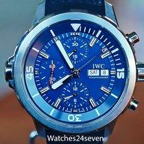 IWC Aquatimer Chronograph Stal 22mm Niebieski