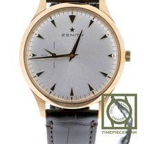 Zenith Elite Ultra Thin Or rose 40mm Argent