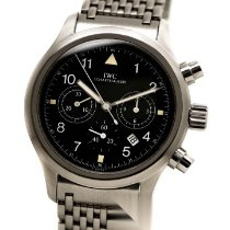 IWC Pilot Chronograph Acél 36mm Fekete Arab