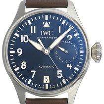 IWC Große Fliegeruhr Stahl 46,2mm Blau Arabisch