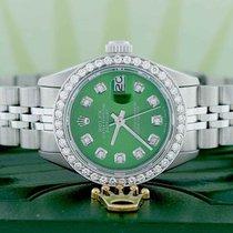 Rolex Lady-Datejust Stahl 26mm Grün