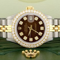 Rolex Lady-Datejust Acier 26mm Brun