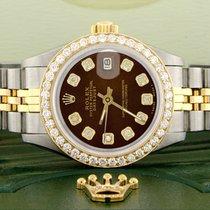 Rolex Lady-Datejust Stahl 26mm Braun