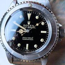 Rolex Submariner 5513 Submarine  Gilt Underline Dial Erstbesitz Zeer goed Staal 40mm Automatisch