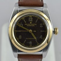 Rolex Bubble Back Gold/Steel 33mm Brown
