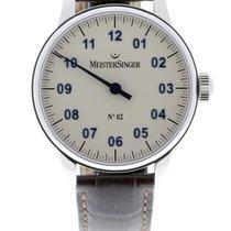 Meistersinger N° 02 Steel 43mm Silver Arabic numerals
