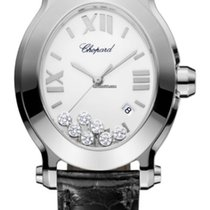 Chopard Happy Sport Staal Wit