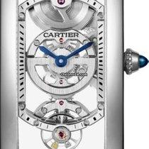 Cartier Platinum Manual winding Transparent 33.8mm new Tank (submodel)
